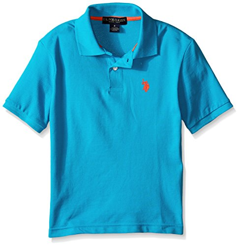 U.S. Polo Assn. Big Boys' Classic Polo Shirt, Teal Blue, 8 (Polo Für Jungen Assn Polo-shirts Us)