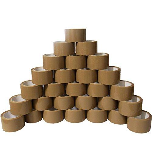 6 Rollen braunes Paketklebeband braun 50 mm (5 cm) x 66 m