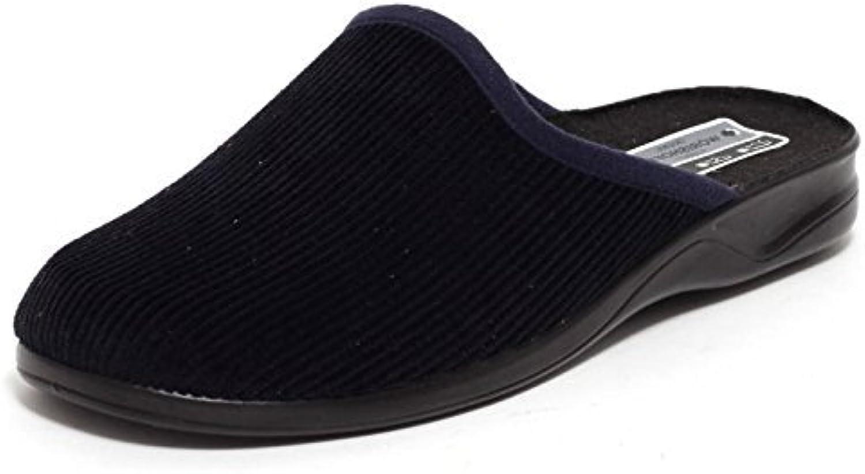 Herren Cord Hausschuhe Wörishofer Slipper Schuhe Pantoletten Pantoffeln DUNKELBLAU Gr. 41   43