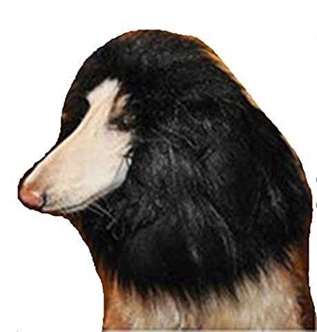 Tier-Hund Perücke Kostüm Löwe Mähne lustig Löwenkopf (Keine Ohren)(schwarz)