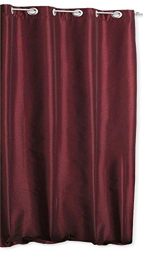 Thermo Übergardine ALEK mit Ösen Farbe & Größe wählbar - Eckig 140 x 245 cm Rot - Vorhang...