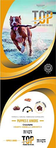 Dagel Mangimi Top Premium per Cani cucciloli crocchette Alta digeribilità High Premium 20 kg Puppy e Junior
