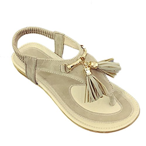 Senhoras Transer® Sandálias De Verão Calçados Casuais Sandálias De Praia Cáqui