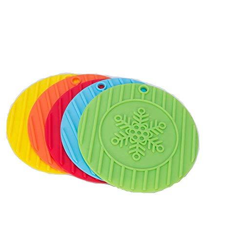 QBT 5 x Silikon Topflappen, Topfuntersetzer, Glasöffner, Löffelablage und Knoblauch Schäler, rutschfest, flexibel, robust, Spülmaschinenfest,
