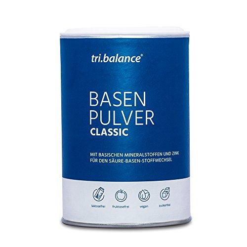 tri.balance Basenpulver + Zink 300 g zur Entsäuerung   Magnesium + Calcium + Kalium   Für die Säure-Basen-Balance   Ideal bei Sport · Diät · Basenfasten   Vegan