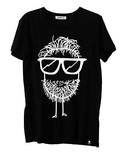 Quipster T-Shirt Beard I Kurzarm-Shirt Mit Rundhals & Coolem Motiv Für Damen & Herren I 100% Baumwolle I Schwarz - L -