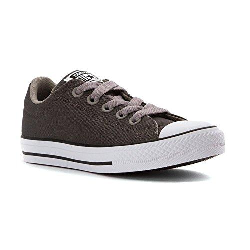 Converse Chuck Taylor All Star Street Slip Fashion Sneaker Shoe - Shale Grey - Kids - 3 (Slip-charcoal Converse All Star)
