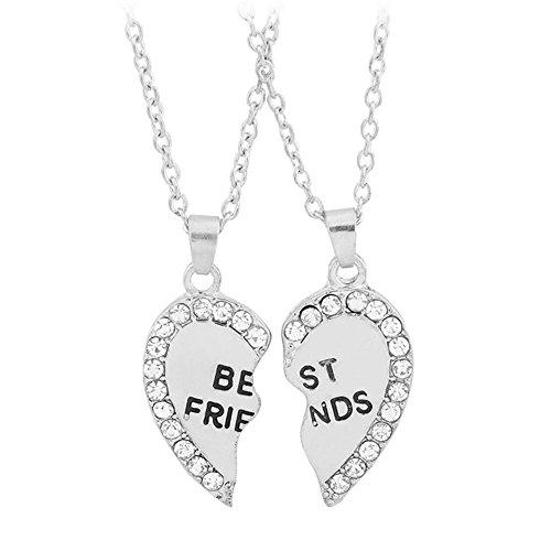 Bling Stars Best Friends Forever Love Herz BFF Diamant Break Anhänger Freundschaft Halsketten Geschenk für Freunde