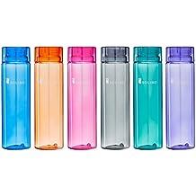 Amazon Brand - Solimo Water Bottle, 1000 ml, Set of 6,Multicolor