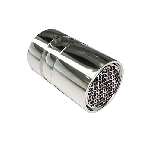 Aeratore per rubinetto girevole con doppio getto e torsione a 360 gradi