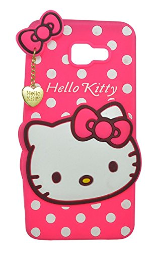Harshu Piyush 3D Designer Hello Kitty Back Cover For Samsung Galaxy J7 Prime - Pink