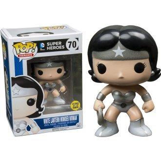 Funko - Figurine DC Comics - White Lantern Wonder Woman Glows in the Dark Exclu Pop 10cm - 0849803063801 (Sammelkarten Dc)