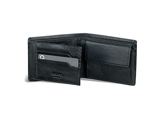 9 Schwarz Leder (Picard 7419 Eurojet -  schwarzes Herren Portemonnaie, Geldbeutel, Geldbörse - aus Leder)