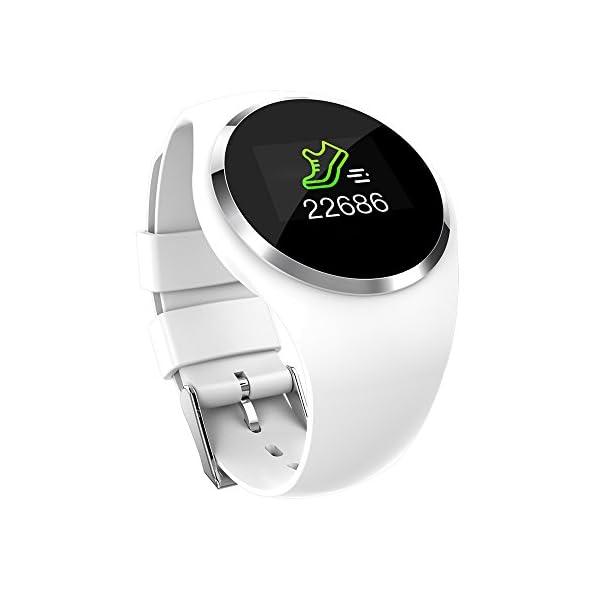 Bracelet Fitness avec cardiofréquencemètre étanche IP67 Fitness Tracker d'activité cardiofréquencemètre Bluetooth Smart 1