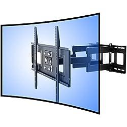 """FLEXIMOUNTS CR1 Soporte de pared para TV curvo cuadra a televisor UHD OLED 4k Samsung LG Vizio etc de 32""""-65"""" (81-165cm)"""
