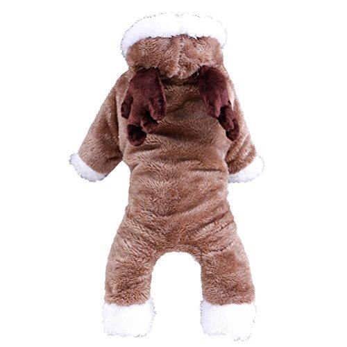 UEETEK Rentier Hunde Bekleidung, Winter warm Kostüm für -