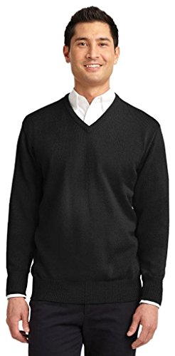 Port Authority® Value V-Neck Sweater. SW300 Black 2XL -