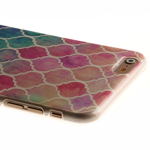 iPhone 6 Plus / 6S Plus (5,5 Zoll) Hülle,iPhone 6 Plus / 6S Plus (5,5 Zoll) Case, Cozy Hut TPU Silikon IMD Technologie Handy tasche Handycover Tasche Hülle Kunst Gemalt Backcover Schutzhülle Handyhüll Gradient Diamant