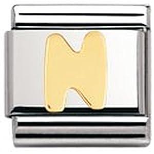 Nomination Composable Classic BUCHSTABEN Edelstahl und 18K-Gold (N) 030101