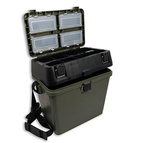 Lineaeffe - Cassetta Per Pesca Con Tanti Scompartimenti E Possibilità Di Seduta/38 X 25 X 37 Cm