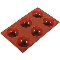 OVINEE Media Bola Esfera Molde de Pastel de Silicona Muffin Galleta de Chocolate Hornear Molde Pan