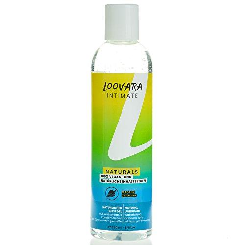 Loovara lubricante natural (250 ml), gel íntimo 100% natural y vegano a base de agua. Es inodoro y no contiene conservantes ni colorantes.