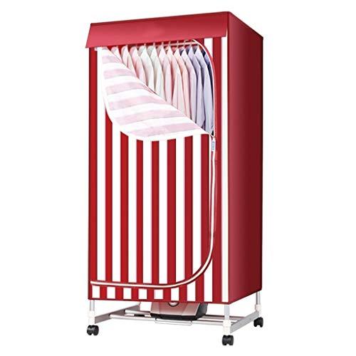 Tragbares Design Wäschetrockner zum Trocknen von Kleidung, Trockner mit Heizung 1000W Heißluft Heizung 180 Minuten for Zuhause oder Schlaf Wäschetrockner Bequem und praktisch (Color : Red)