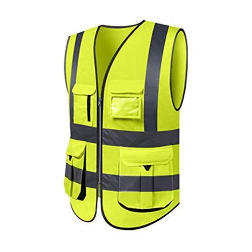 Yuan Reflektierende Weste - Fluoreszierende Weste Hygiene Arbeiter Kleidung Verkehr Fluoreszierende Klage Gelbe Weste Reiten Reflektierende Kleidung Männer (mehrfarbige Wahl) /&