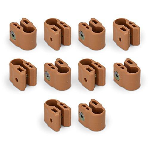 FabiMax 3633 Klemmen für die stufenlose Höhenverstellung des Laufgitterbodens, 10 Stück, beige