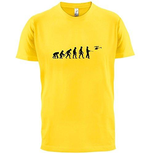 Evolution of Man - Ferngesteuerter Hubschrauber - Herren T-Shirt - 13 Farben Gelb
