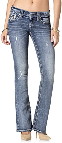 Rock Revival - - Damen Bootcut Jeans Manila, 27, B200 Denim