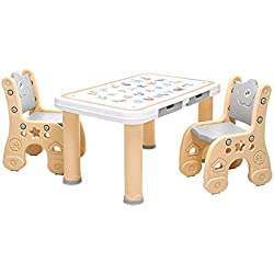 YSA Tables Basses Table d 'étude Table d ' Accueil et Deux Ensembles de chaises Jouets Chambre d 'Apprentissage pour Enfants Table d ' écriture pouvant Supporter Un Poids de 250 kg Tab