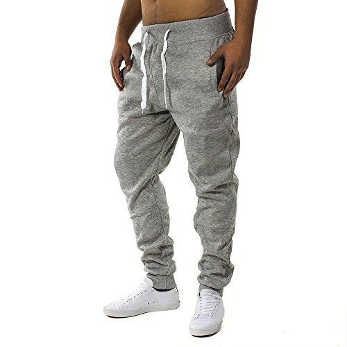 Herren Jogging Hose Fit & Home Sweat Pant Sporthose H1128 Dunkelgrau L