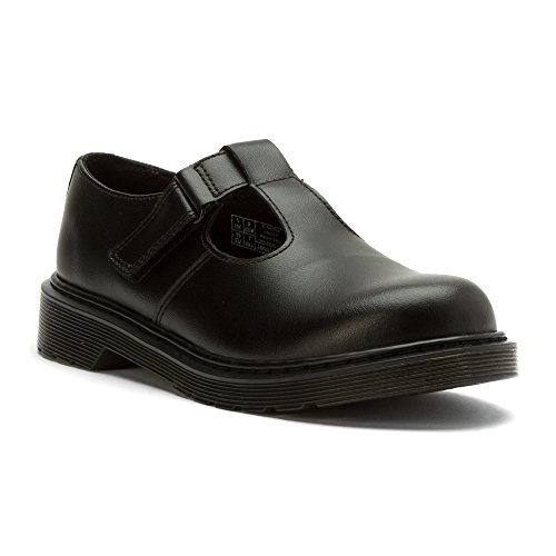Dr Martens Goldie Y Black Leather Youth School Shoes Black
