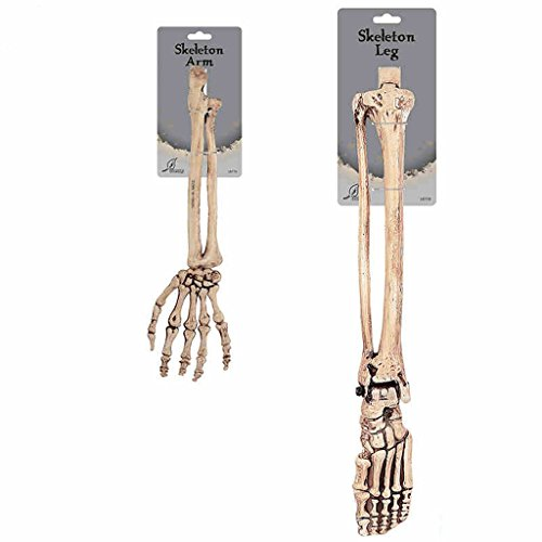 Halloween Ghost Festival Tricky Terrorist Lustige Fooly Man Ganzes Simulierte Suspension Skeleton Broken Arm Fuß