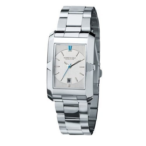 Kenneth Cole Gents Smart Silver Design Dial With Date Bracelet Watch KC3707