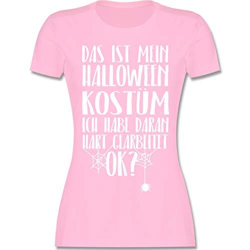 Halloween - Das ist Mein Halloween Kostüm - L - Rosa - L191 - Damen T-Shirt Rundhals