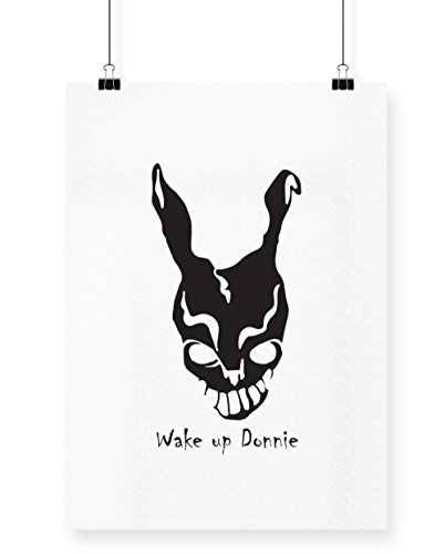 hippowarehouse Donnie Darko Frank Maske bedruckt Poster Wall Art Wand Design, weiß, (Darko Frank Kostüm Donnie Halloween)