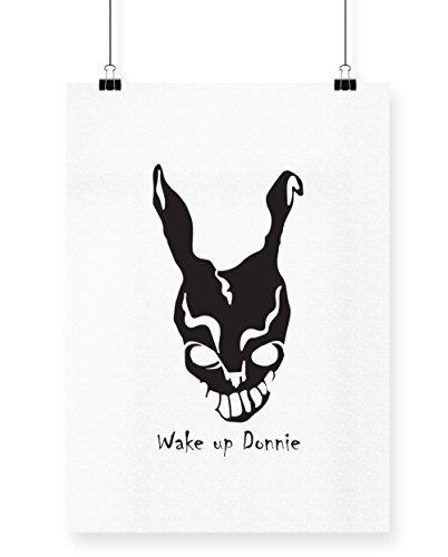 hippowarehouse Donnie Darko Frank Maske bedruckt Poster Wall Art Wand Design, weiß, (Darko Donnie Frank Halloween Kostüm)