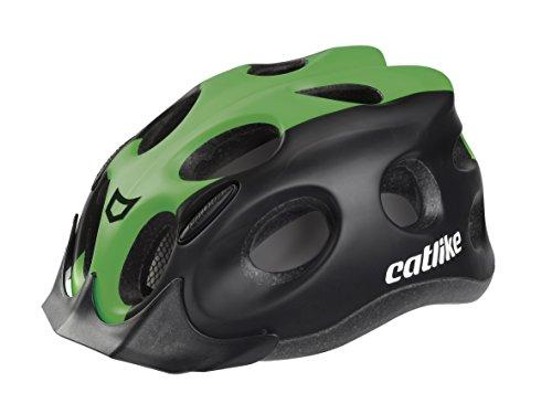 Catlike Tiko Casco de Ciclismo, Unisex Adulto, Negro/Verde, M/55-61 cm