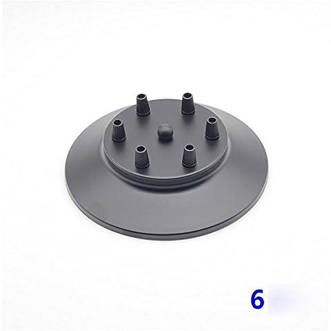 BJVB Rotonde del soffitto Lampadario plafoniera Cup 5 testa/6 testa/8 testa / turno lampadari moderni base lampada accessori portalampade . 6 head section