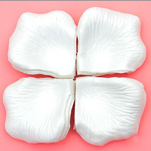 Spritech (TM) 10unidades Pétalos de rosa flores artificiales boda pétalos piezas Cataratas para bodas, Bodas y Fiestas Decor, Blanco, talla única