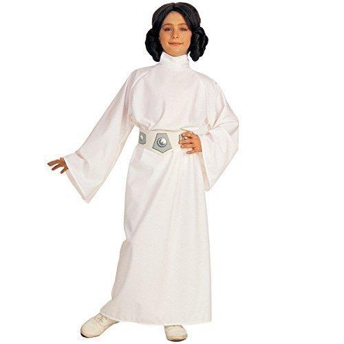 Offiziell Lizenziert Mädchen Star Wars Prinzessin Leia Büchertag Woche Halloween Kostüm Kleid Outfit Alter 3-10 jahre - Weiß, Weiß, 3-4 Years