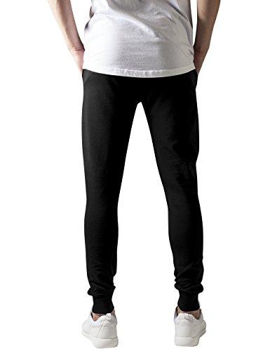 Urban Classics Cutted Terry Pants, Pantalon Homme Noir - Noir (7)