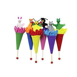 JAGENIE Marionnettes Cache-Cache Animaux Cône Pop-up Pour Bébé et Enfant Jeu Éducatif 6 Pièces