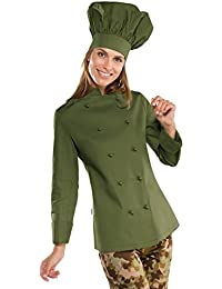 Isacco - Veste cuisine Femme vert olive