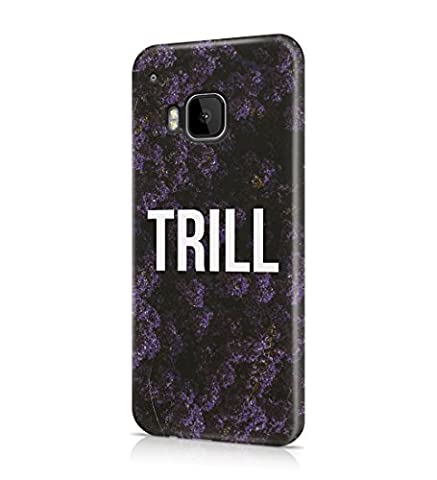 Trill Dark Purple Wild Flower Pattern Durable Hard Plastic Snap On Phone Case Cover Shell For HTC One M9 Coque Housse Etui