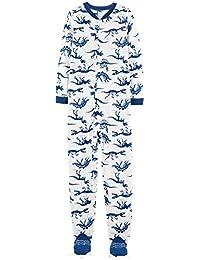 df8a4a608d Carter's Schlafanzug Fleece 110/116 Einteiler Winter warm weich  Reißverschluss für Jungen Schlafoverall US Size