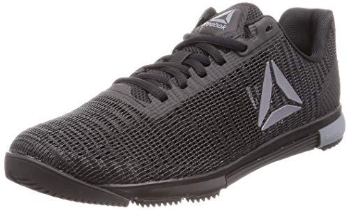 reebok speed tr flexweave, scape per sport indoor uomo, multicolore (black/cold grey 000), 43 eu