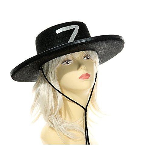 Hut ''Zorro'' schwarz 1 Stück | Kostüm | Hut | Karneval | Fasching | Verkleidung | Preis am Stiel® (Zorro Kostüm Männer)